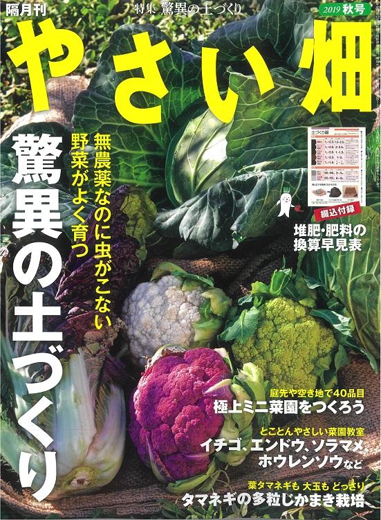 やさい畑秋号 9月3日発行