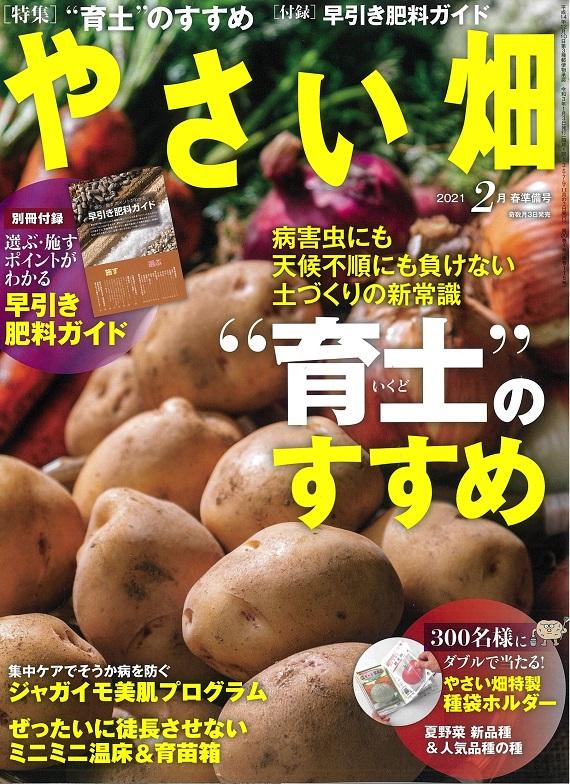 やさい畑春準備号 1月3日発売